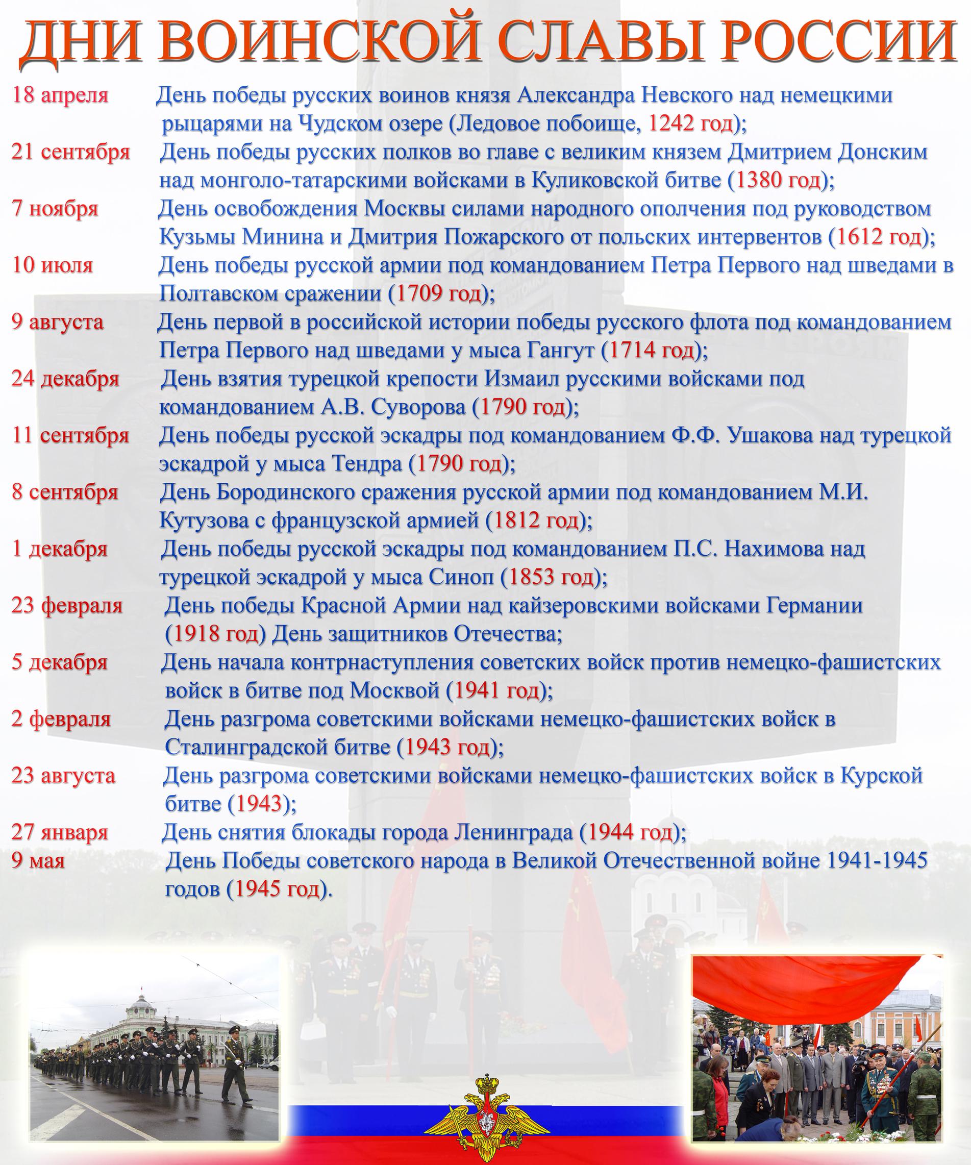 Картинки день воинской славы россии 2019